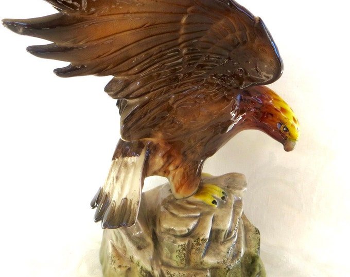 Howard Holt Eagle Figurine, Vintage Howard Holt 1959. American Bald Eagle Figure, Mid Century
