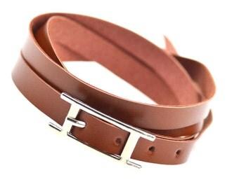 Fashion Layered Handmade Leather Bracelet.