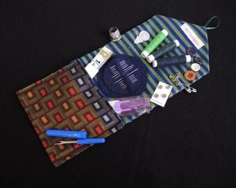 Magenta Rivers Large luxury travel sewing kit in Silk ...
