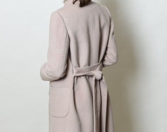 Cashmere women coat/wool/silk/winter coat/hand made/ ready to ship/ SALE