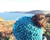 Messy bun hat  ponytail hat  running hat  skiing hat