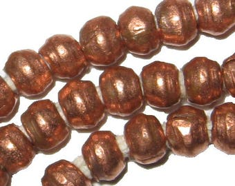 27 Inches of Small Ethiopian Copper Heishi Beads 3 mm