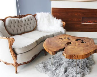 Bookmatched Live Edge Coffee Table