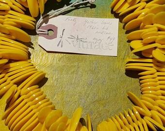Yellow Lucite choker