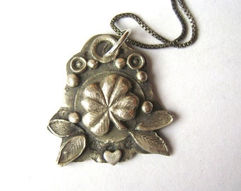 new sterling four leaf clover pendant necklace