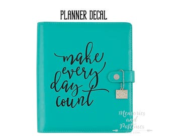 Black Planner Decal - Large / A5 - Make Every Day Count - Simple Stories - Carpe Diem - 322922