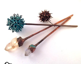 Magpie Sticks - Handmade Electroformed Hair Pick