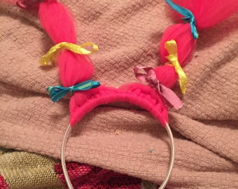 Cute Trolls Hair Pigtails Headband