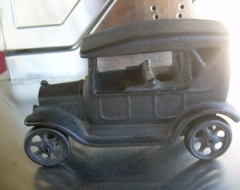 Vintage cast iron toy touring sedan JM135