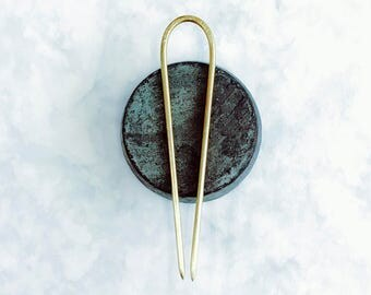 Brass Hair Stick - Plain