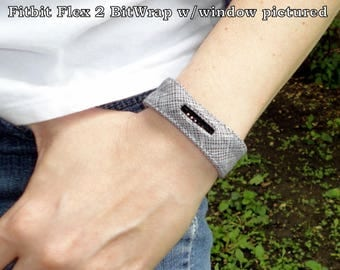 Fitbit One, Charge, Charge HR, Surge, Alta, Alta HR, Blaze, Flex 2, Charge 2, Flex Grey and White Check Print Band-BitWrap