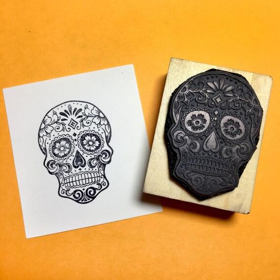 Sugar Skull Rubber Stamp - My Sugar Skulls