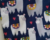 Alpaca, (food safe) Lined, Reusable & Washable Zippered Bags (3 sizes)