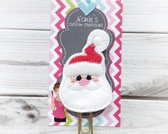 Christmas Paper Clip - Santa Paper Clip- Santa Claus Paper Clip -Planner Feltie- Santa Feltie -Santa Claus Feltie-Christmas Feltie