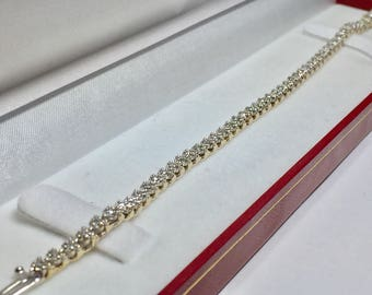 Classic Tennis Bracelet l 14KT Yellow Gold Diamond Bracelet