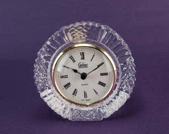 Cut Glass Clock Etsy