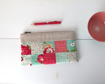 Cosmetic pouch, make-up bag, zip pouch, pencil case