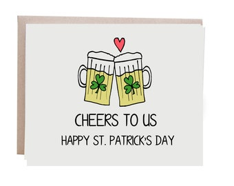 St Patrick's Day Card, Beer, Love Card, Saint Patty's Day