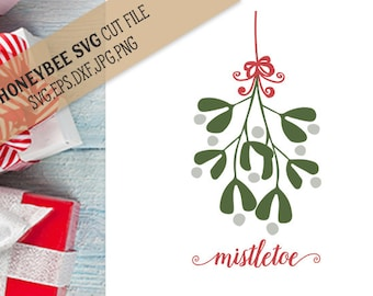 Mistletoe Swag svg Christmas svg Mistletoe svg Christmas decor svg Holiday decor svg Holiday svg Silhouette svg Cricut svg eps dxf
