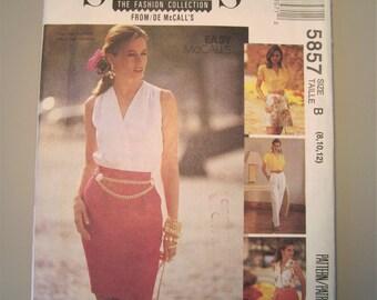 McCall's Sew News 5857 UNCUT Misses Skirt, Pants, Shorts Sizes 8-10-12 1992