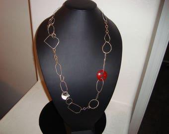 STERLING Silver BAKELITE necklace