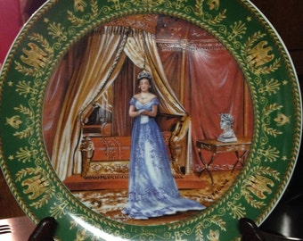 Limoges Souvenir Plate Commemorating Josephine and Napoleon