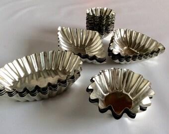 Set of Vintage Tartlet Tins
