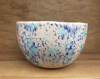 Ceramic bowl (pink and blue)