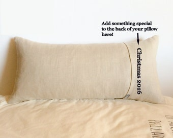 Say something special on the back of your pillow - Add a print to the back -This listing is only good with the purchase of a pillow