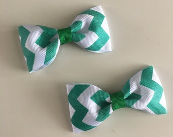 Chevron pinched Bow (set of 2)