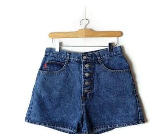 Vintage Blue Denim Shorts from 90's/W28*