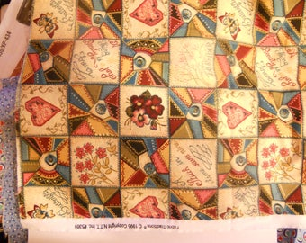 Fabric Traditions 1995 Quilt/Sewing Theme Fabric - 1/2 yard