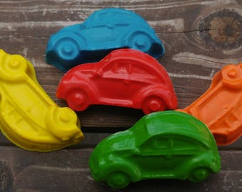 Car Crayons set of 40 - Party Favors - Classic Cars - Cars Party