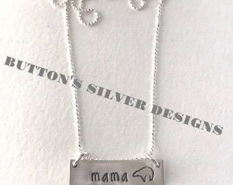 Mama Bear, Personalized Necklace