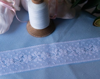 """French Valenciennes Lace- 1 5/8"""" insertion"""