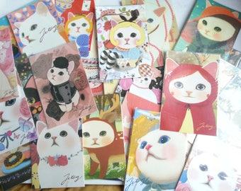 Choo Choo Cat Postcard - 10 Cards , Pick up by random