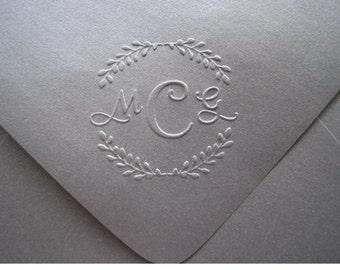 Custom Monogram Embosser, Personalized Embosser, Wedding Embosser