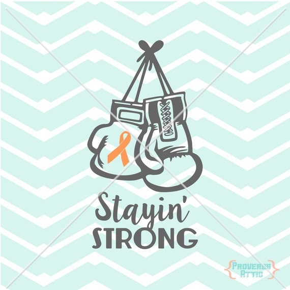 Cancer Ribbon Boxing Gloves Stayin Strong Car Decal Vinyl