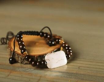 Wooden Bead Bracelet for Men