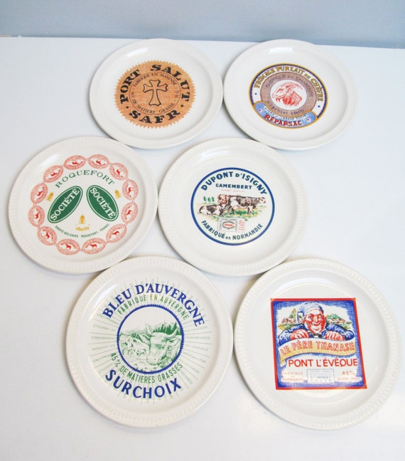Like this item?  sc 1 st  Etsy & 6 six vintage Faience Ceramic St Amand France Cheese Plates