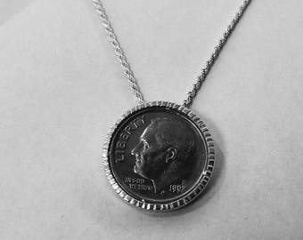 Coin Beael Handmade personalized coin bezel in Sterling silver