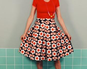 Frida rock LOTTE BLACK POOL retro pleated skirt