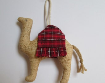 3 OPTIONS - Fabric Camel keychain, ornament, accessory