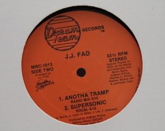 "J.J. Fad -  ""Anotha Ho, Another Tramp, Supersonic"" vinyl record, 12"" Single, 33 RPM"