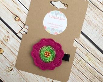 Spring flower hair clip, feltie clips, springtime, flowers, toddler clips