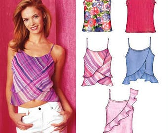 Misses' Tank Tops in 5 Views sizes 6-16 New Look Sewing Pattern # 6276