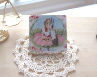 dollhouse vintage easter picture vintage style wooden 12th scale miniature
