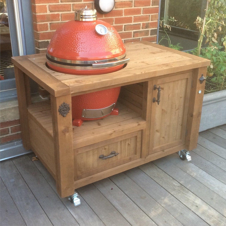 Kamado Joe Outdoor Kitchen: Grill Table Or Grill Cabinet For Big Green Egg Kamado Joe