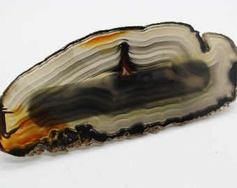 Brazilian Agate Drawer Pull - Natural Decor, Stone Pull, Unique Drawer Pull, Natural Science, Agate Slice