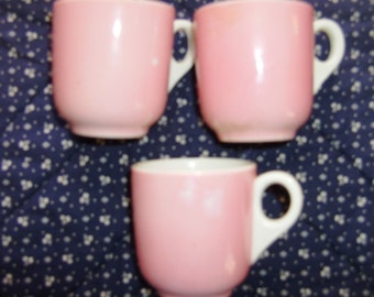 Set of Three Demitasse/Expresso/Cappuccino Cups - Vintage/Kitchen/Coffee Cups/Home Decor/Vintage Home Decor/Collectible/ Collectible Cups